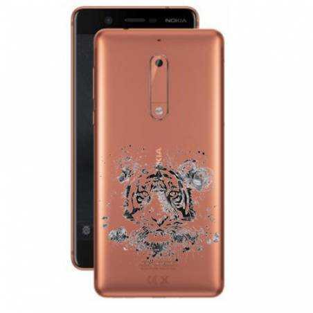Coque transparente Nokia 5 tigre
