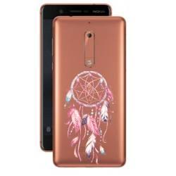 Coque transparente Nokia 5 feminine attrape reve rose