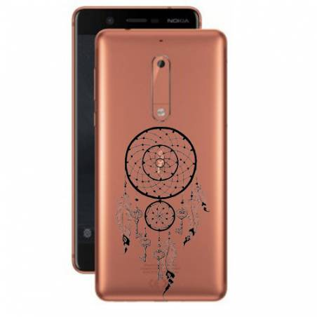 Coque transparente Nokia 5 feminine attrape reve cle