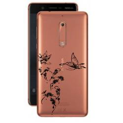 Coque transparente Nokia 5 feminine envol fleur