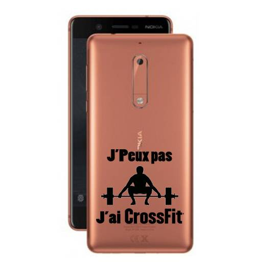 Coque transparente Nokia 5 jpeux pas jai crossfit