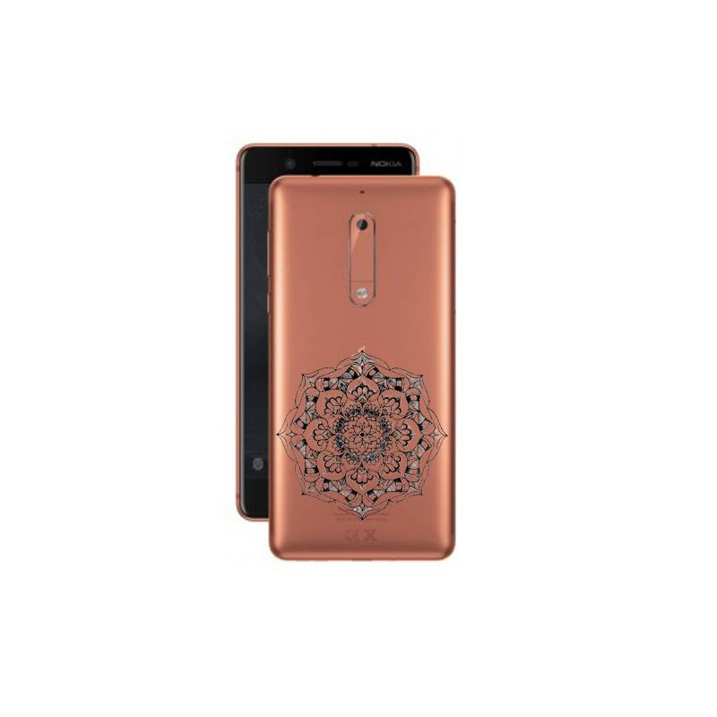 Coque transparente Nokia 5 mandala noir