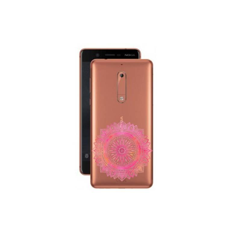 Coque transparente Nokia 5 mandala rose