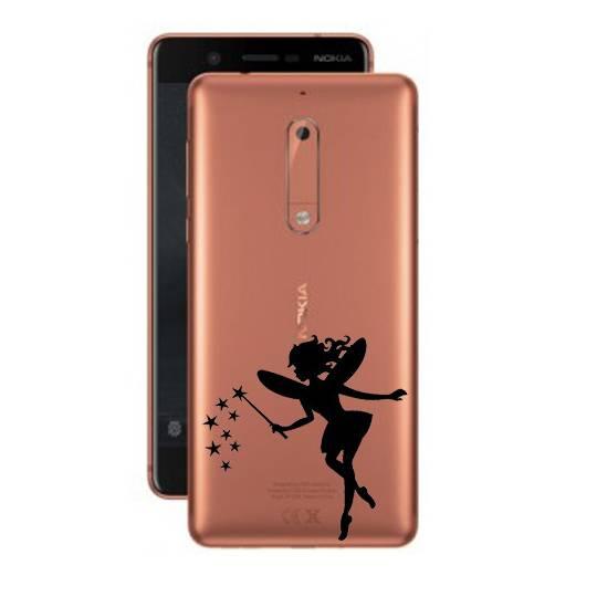 Coque transparente Nokia 5 magique fee noir