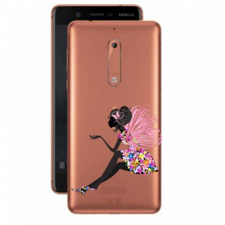 Coque transparente Nokia 5 magique fee fleurie