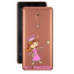 Coque transparente Nokia 5 magique mme princesse