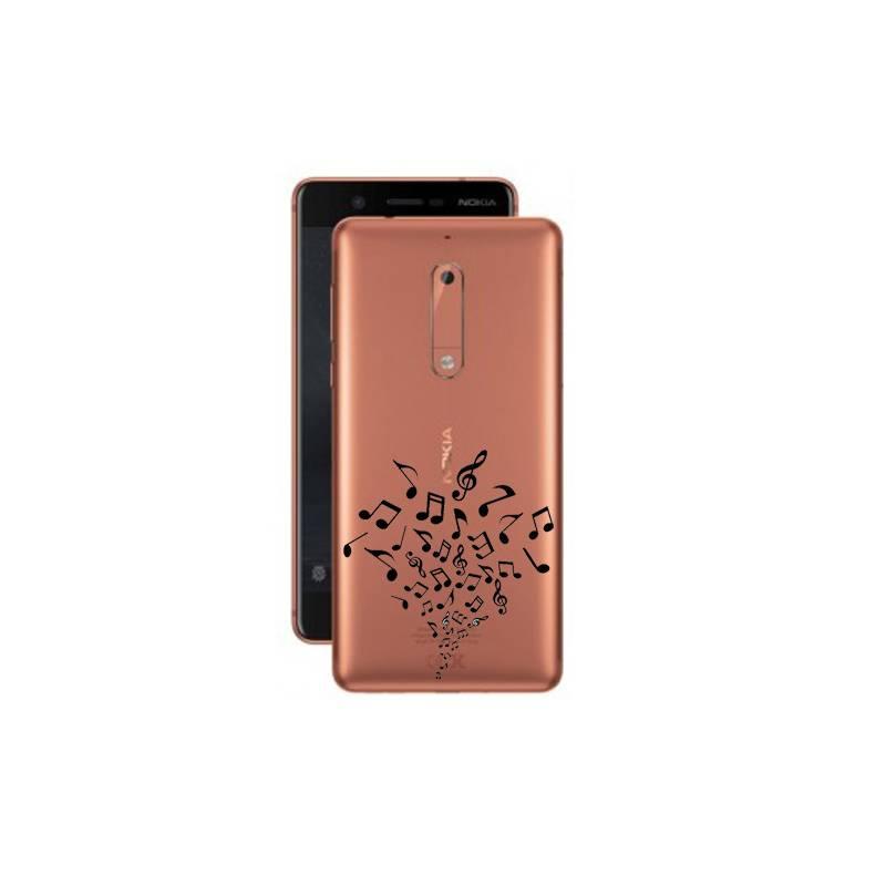 Coque transparente Nokia 5 note musique