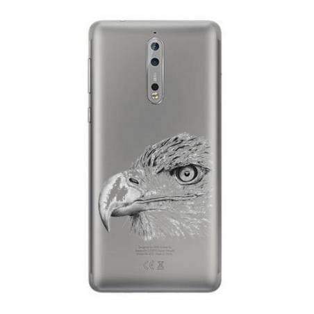 Coque transparente Nokia 8 aigle