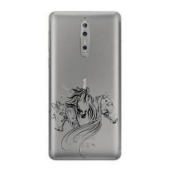 Coque transparente Nokia 8 chevaux