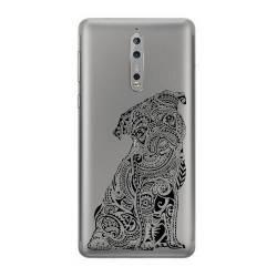 Coque transparente Nokia 8 chien