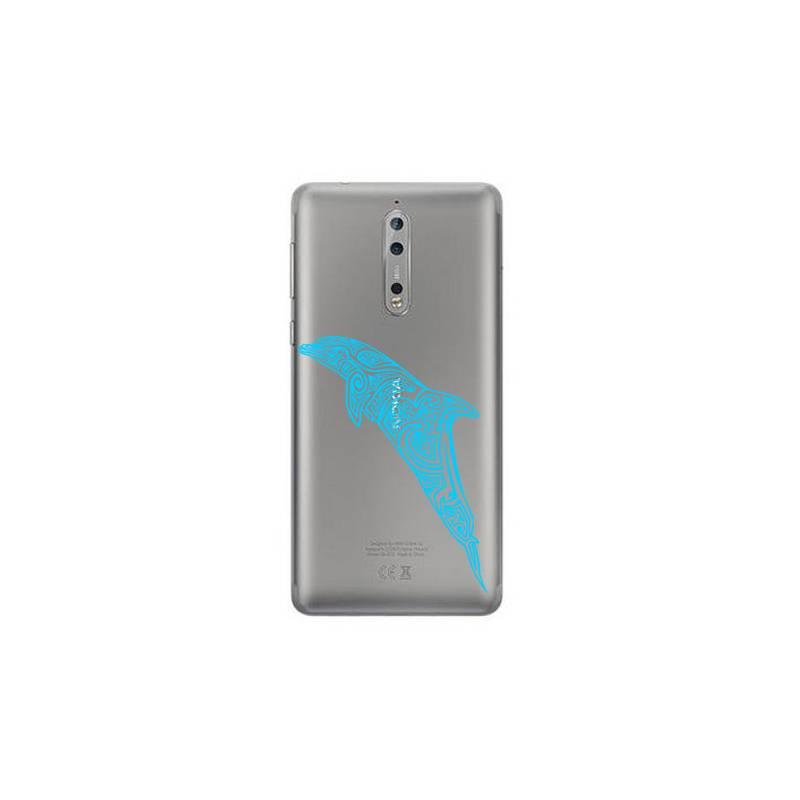 Coque transparente Nokia 8 dauphin