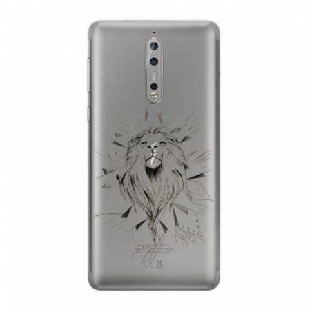 Coque transparente Nokia 8 lion