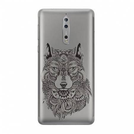 Coque transparente Nokia 8 loup
