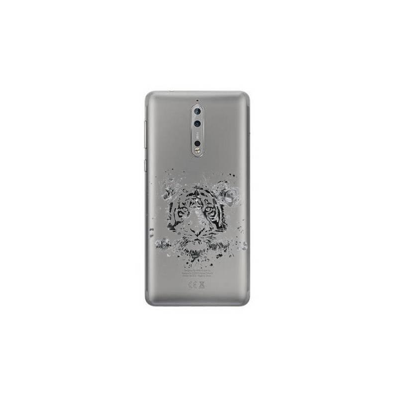 Coque transparente Nokia 8 tigre