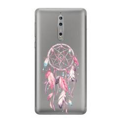 Coque transparente Nokia 8 feminine attrape reve rose