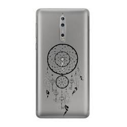 Coque transparente Nokia 8 feminine attrape reve cle
