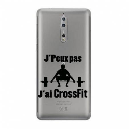 Coque transparente Nokia 8 jpeux pas jai crossfit