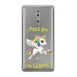 Coque transparente Nokia 8 jpeux pas jai licorne