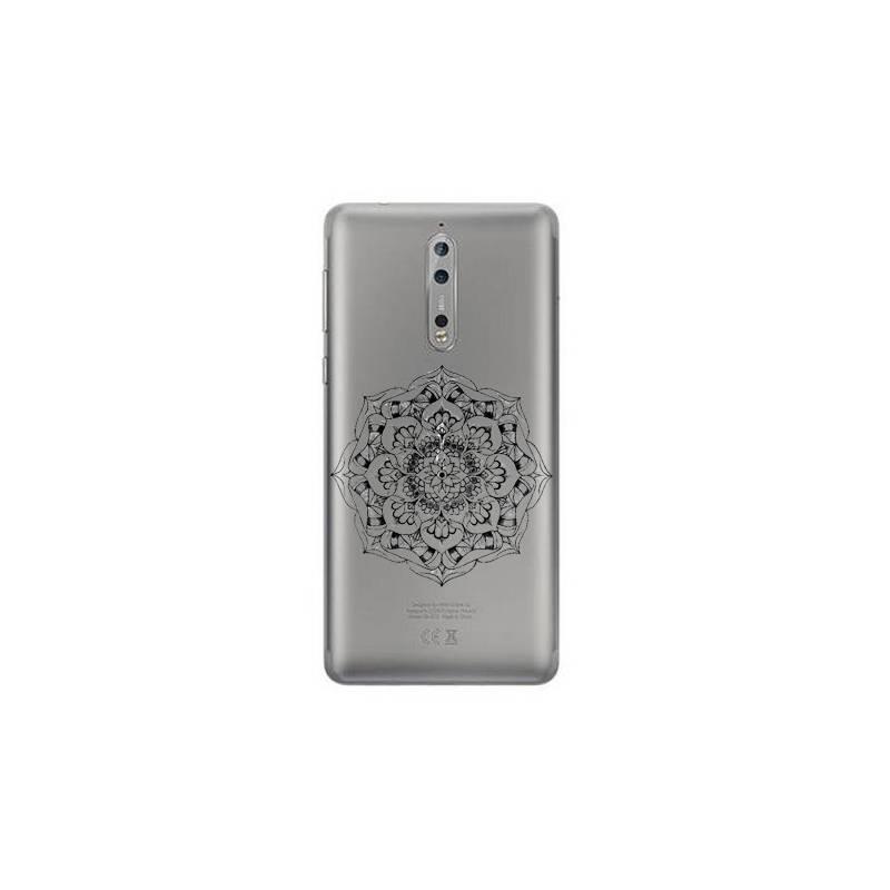 Coque transparente Nokia 8 mandala noir