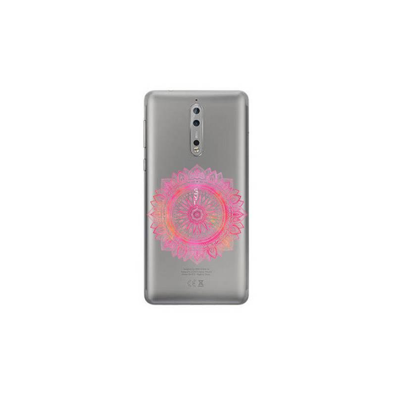 Coque transparente Nokia 8 mandala rose