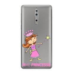 Coque transparente Nokia 8 magique mme princesse