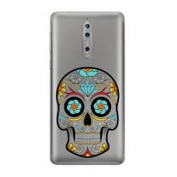 Coque transparente Nokia 8 tete mort