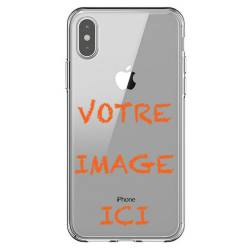 Coque transparente iPhone X personnalisee