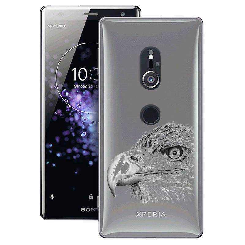 Coque transparente Sony Xperia XZ2 aigle