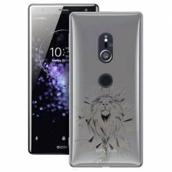 Coque transparente Sony Xperia XZ2 lion