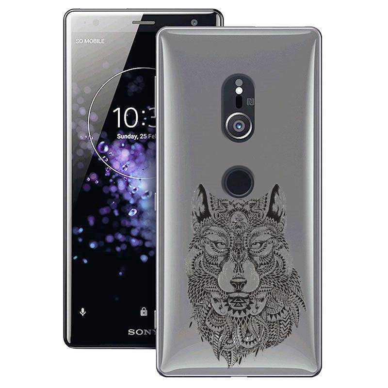 Coque transparente Sony Xperia XZ2 loup