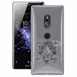 Coque transparente Sony Xperia XZ2 tigre
