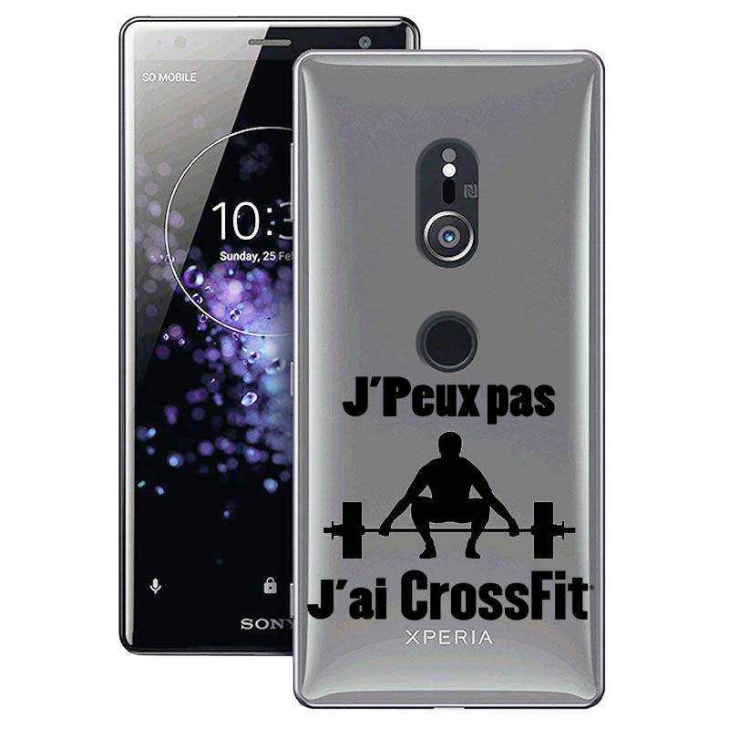 Coque transparente Sony Xperia XZ2 jpeux pas jai crossfit