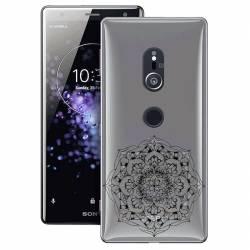 Coque transparente Sony Xperia XZ2 mandala noir