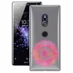 Coque transparente Sony Xperia XZ2 mandala rose