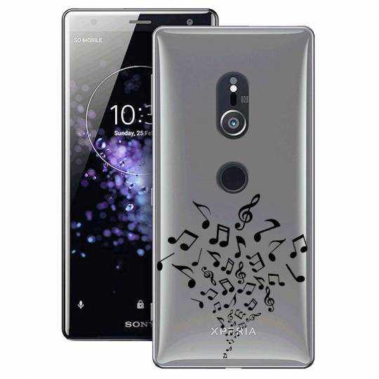 Coque transparente Sony Xperia XZ2 note musique