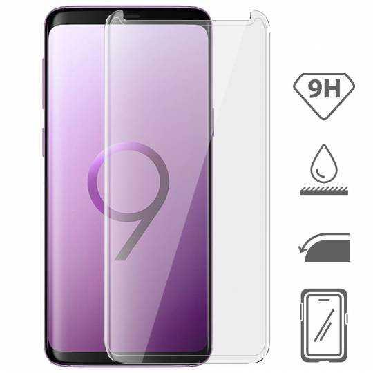 Vitre protection / Verre trempé incurvé 3D Samsung Galaxy S9