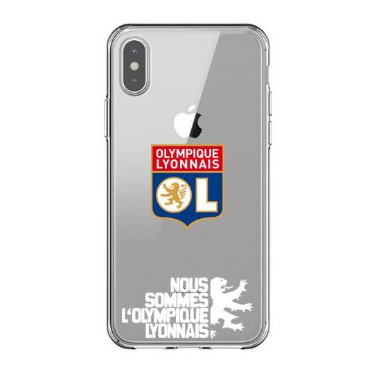 Coque transparente Iphone X Licence Olympique Lyonnais - double face