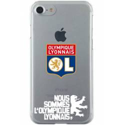 Coque transparente Iphone 7 / 8 Licence Olympique Lyonnais - double face