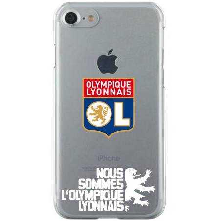 Coque transparente Iphone 7 / 8 Licence Olympique Lyonnais - double face