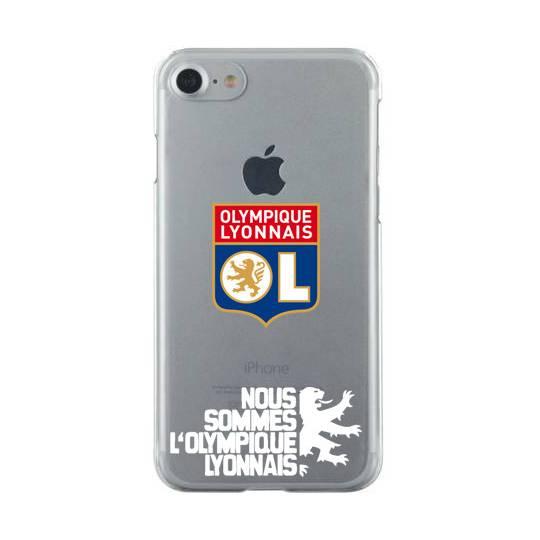 Coque transparente Iphone 6 / 6s Licence Olympique Lyonnais - double face