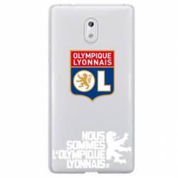 Coque transparente Nokia 3 Licence Olympique Lyonnais - double face