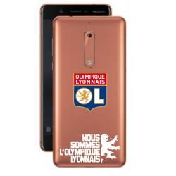 Coque transparente Nokia 5 Licence Olympique Lyonnais - double face
