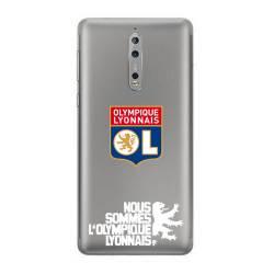 Coque transparente Nokia 8 Licence Olympique Lyonnais - double face