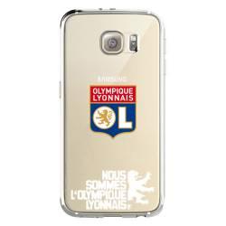 Coque transparente Samsung Galaxy S8 Plus + Licence Olympique Lyonnais - double face
