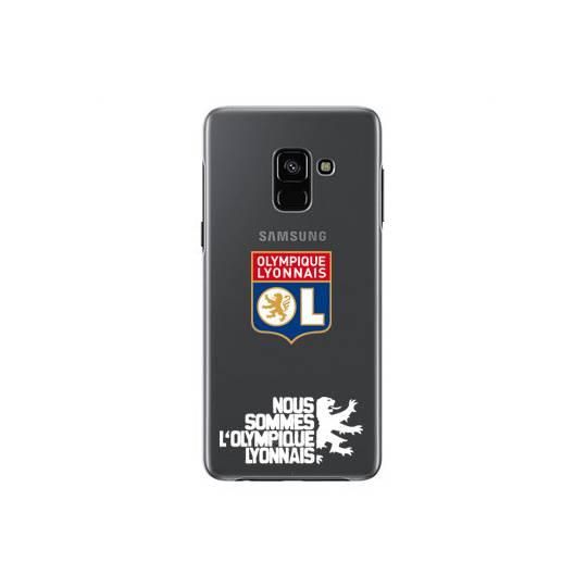 Coque transparente Samsung Galaxy S9 Licence Olympique Lyonnais - double face