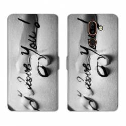 RV Housse cuir portefeuille Nokia 7 Plus amour
