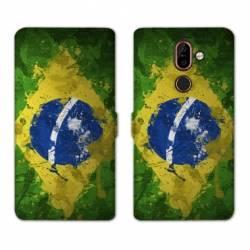RV Housse cuir portefeuille Nokia 7 Plus Bresil