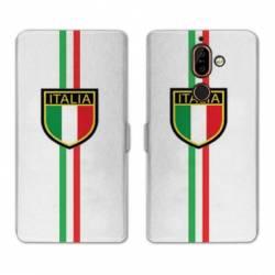RV Housse cuir portefeuille Nokia 7 Plus Italie