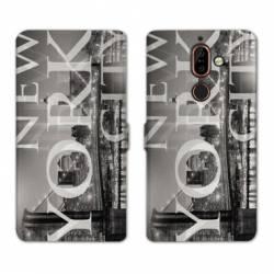 RV Housse cuir portefeuille Nokia 7 Plus Amerique
