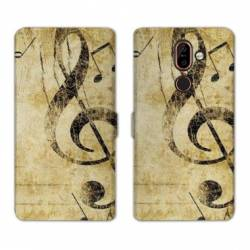 RV Housse cuir portefeuille Nokia 7 Plus Musique